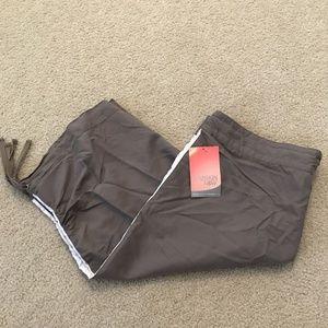 Danskin light brown capri/crop pants - womens larg